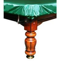 Покрывало чехол для бильярда Стандарт 6фт ПВХ влагостойкое резинка на лузах зелёное