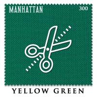 Отрез 0.2 х 1.95м бильярдного сукна Manhattan 300 Yellow Green