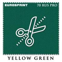 Отрез 1.14 х 1.98м бильярдного сукна Eurosprint 70 Rus Pro Yellow Green