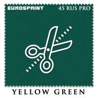 Отрез 0.4 х 1.98м бильярдного сукна  Eurosprint 45 Rus Pro Yellow Green