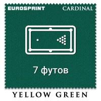 Отрез бильярдного сукна на стол 7 футов (2.7х1.98м) Eurosprint Cardinal Yellow Green